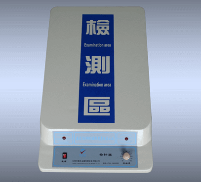 table top needle detector